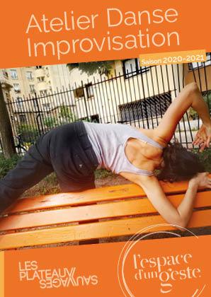 Ateliers Danse Improvisation 2020-21 aux Plateaux Sauvages le lundi de 19h30 à 21h